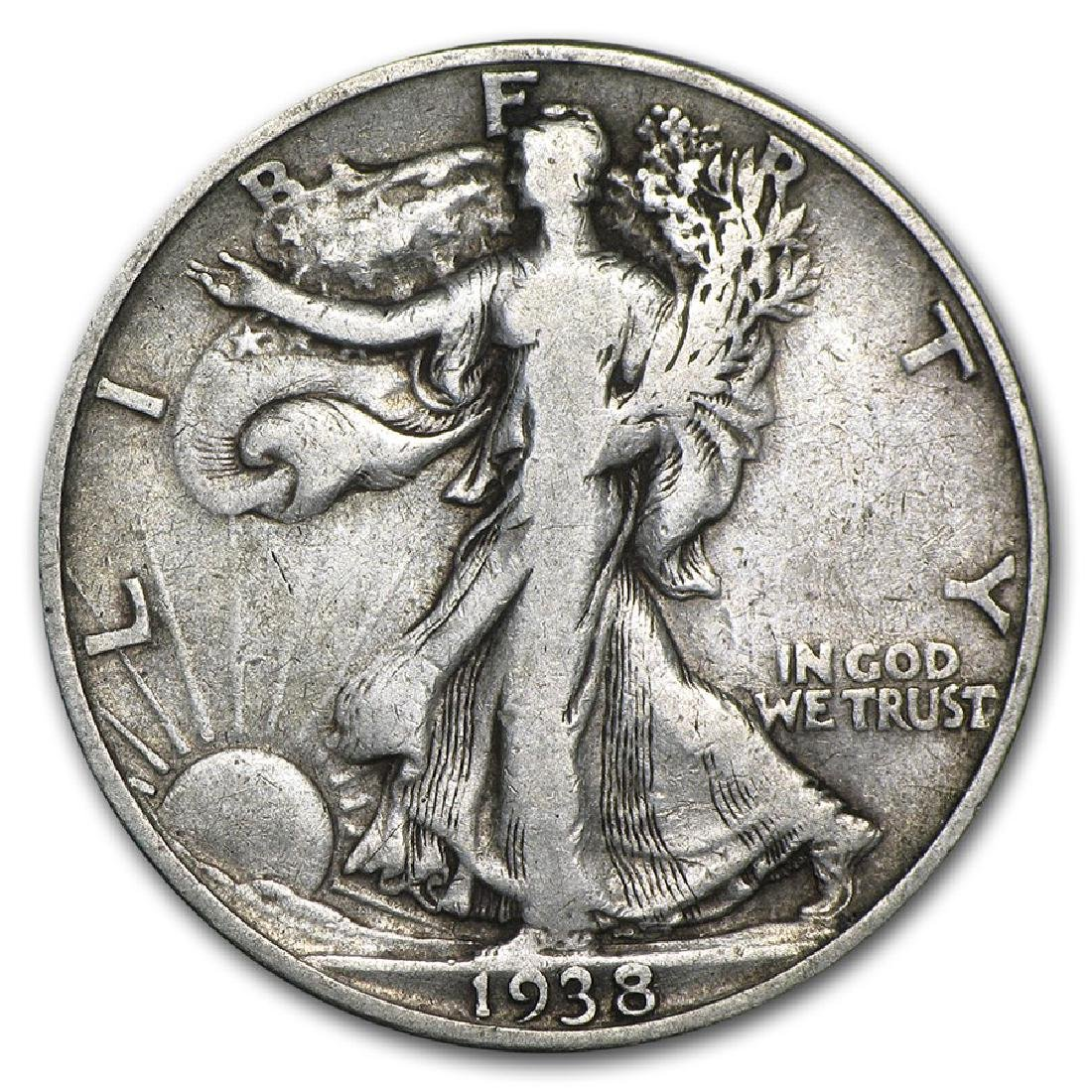 1938-D Walking Liberty Half Dollar Coin