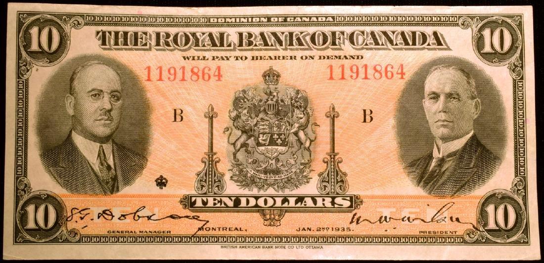 1935 $10 Royal Bank of Canada Note
