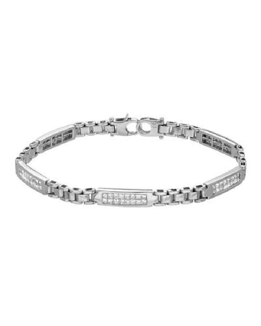 14KT White Gold 2.00ctw Diamond Bracelet