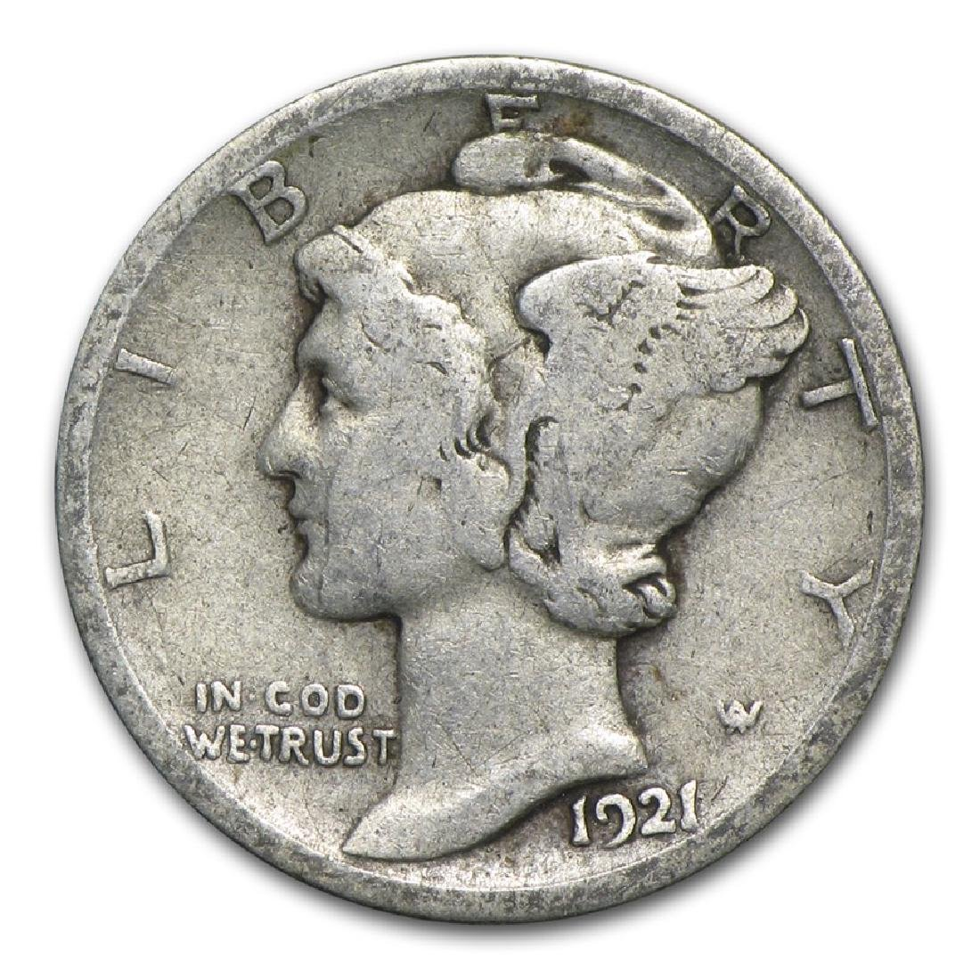 1921-D Mercury Dime