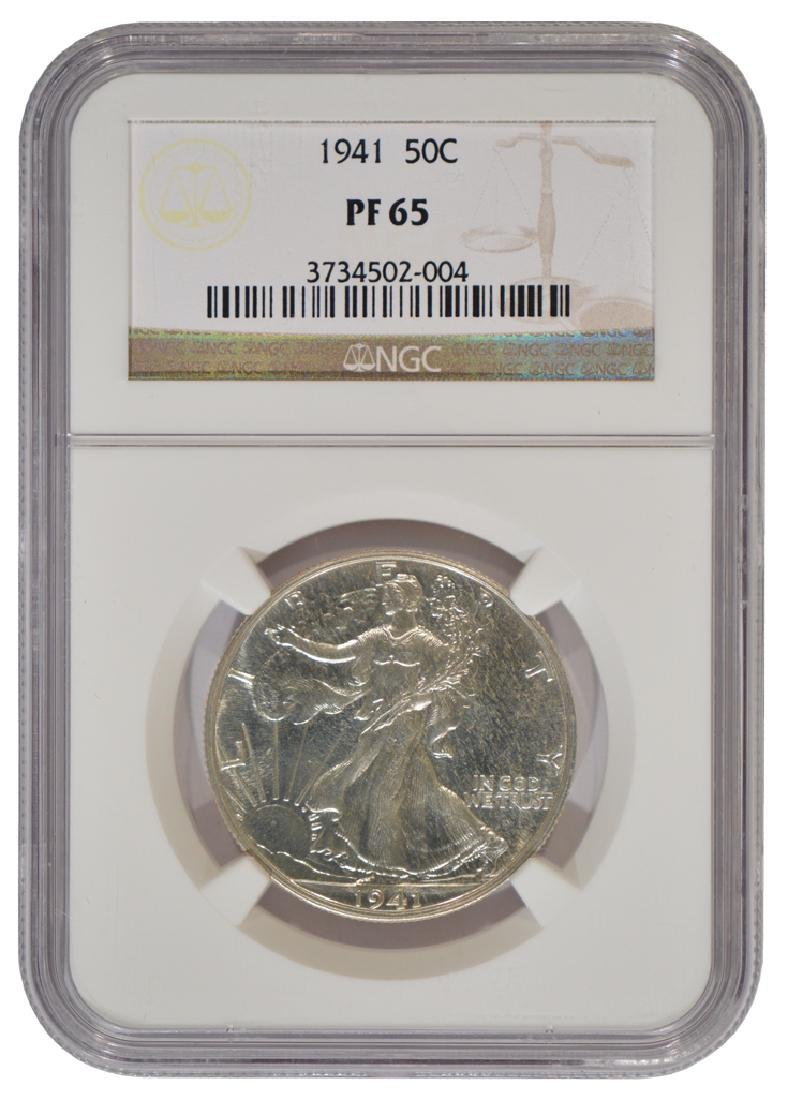 1941 Walking Liberty Half Dollar Coin NGC PF65