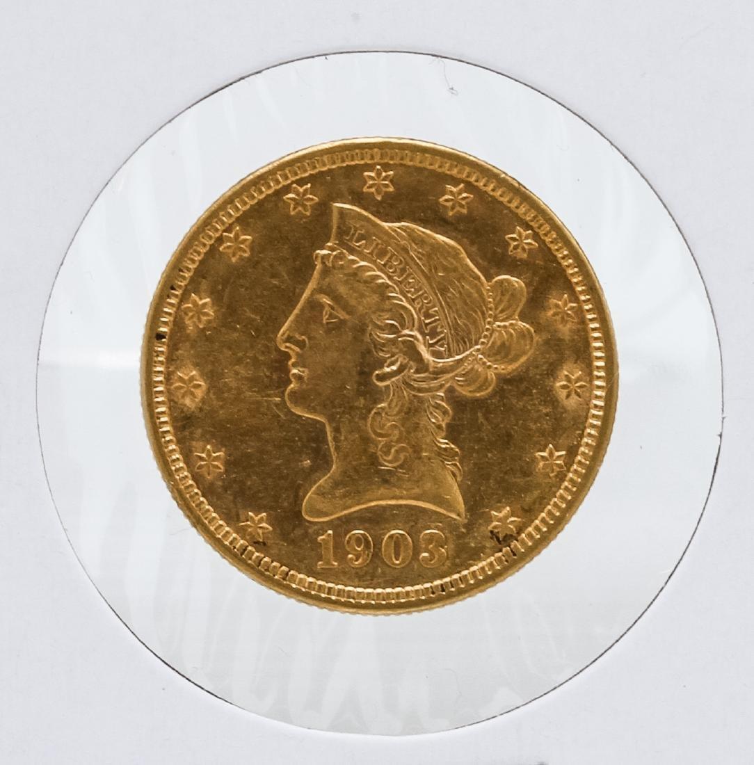 1903-O $10 Liberty Head Eagle Gold Coin