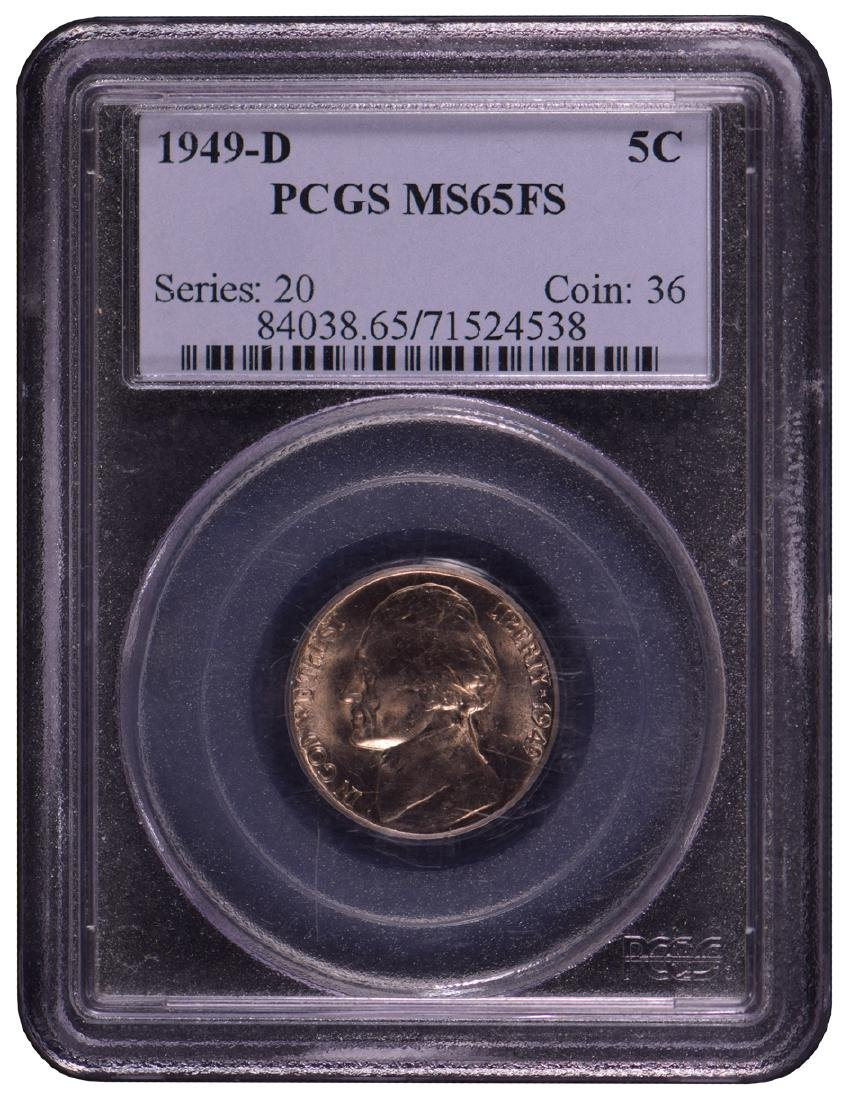 1949-D Buffalo Nickel PCGS MS65FS