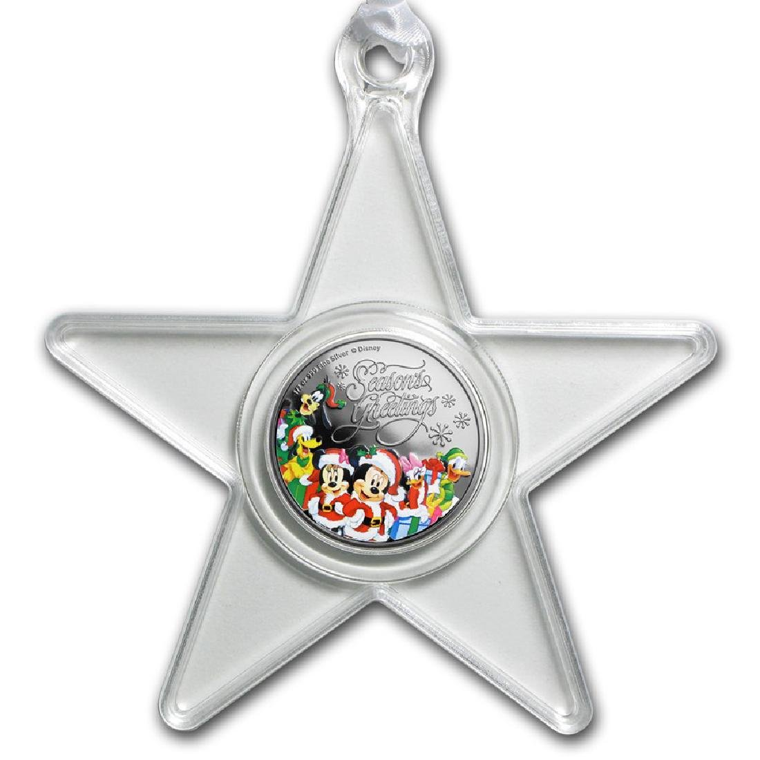 2016 $1 Seasons Greetings 1/2 Silver Coin Ornament