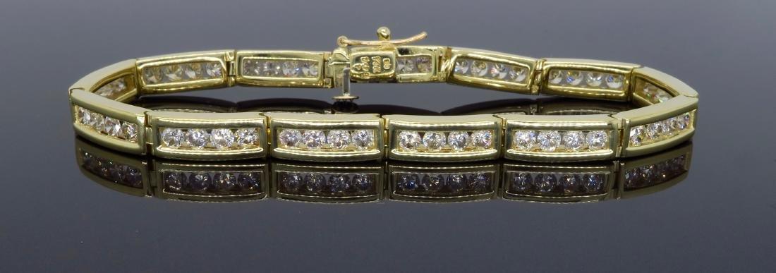 14KT Yellow Gold 3.64ctw Diamond Bracelet