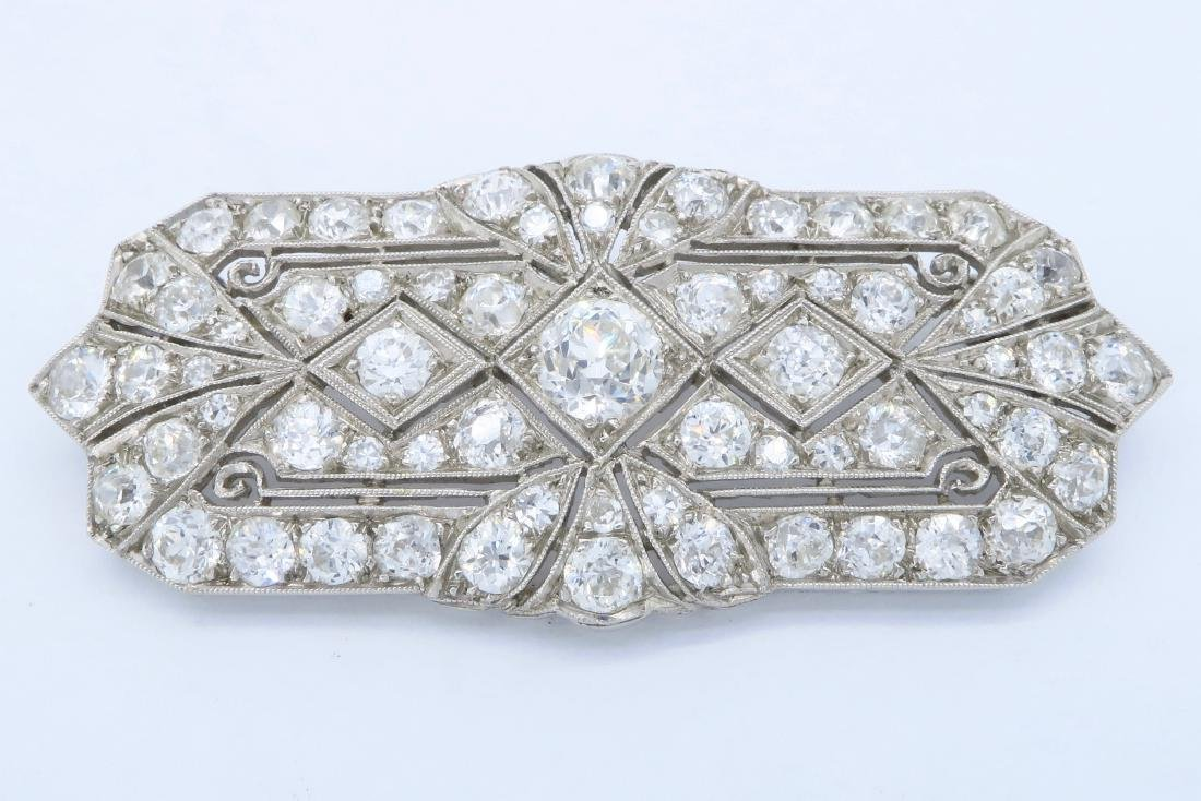 Platinum 4.15ctw Diamond Brooch
