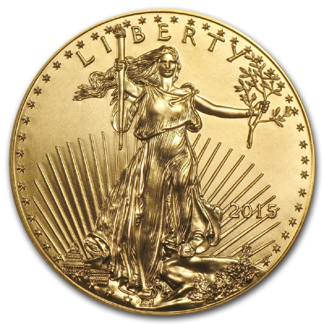 2015 $50 American Eagle 1 oz Gold Coin