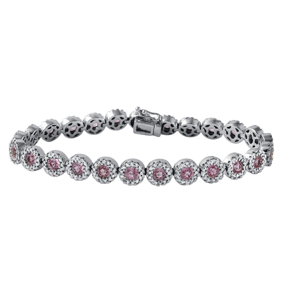 14KT White Gold 6.02ctw Pink Sapphire and Diamond