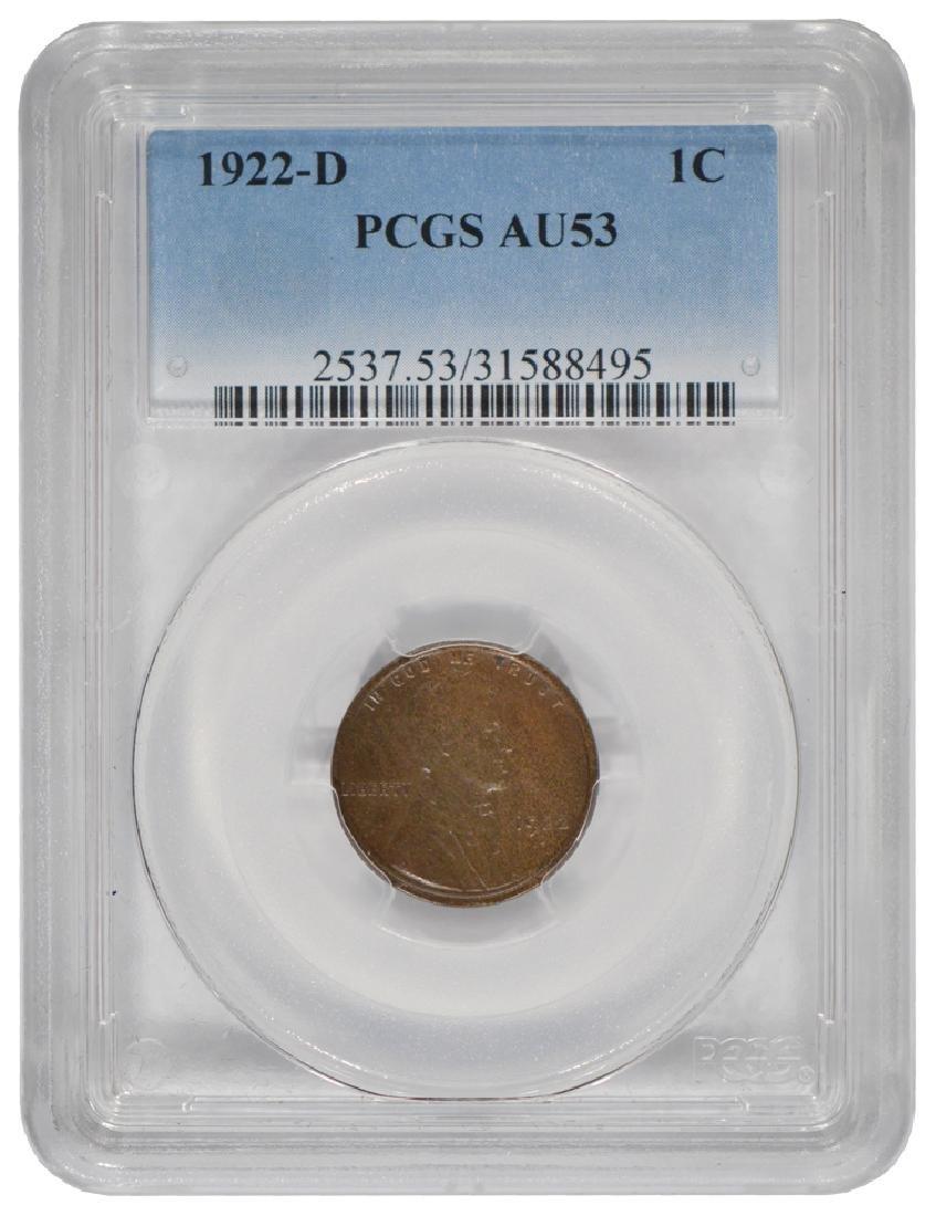 1922-D Lincoln Cent PCGS AU53