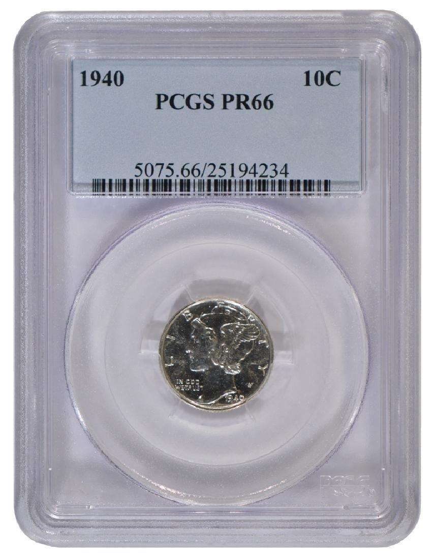 1940 Mercury Dime PCGS PR66