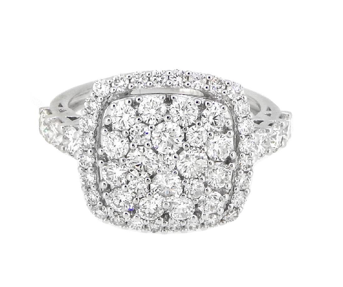 18KT White Gold 1.88ctw Diamond Ring