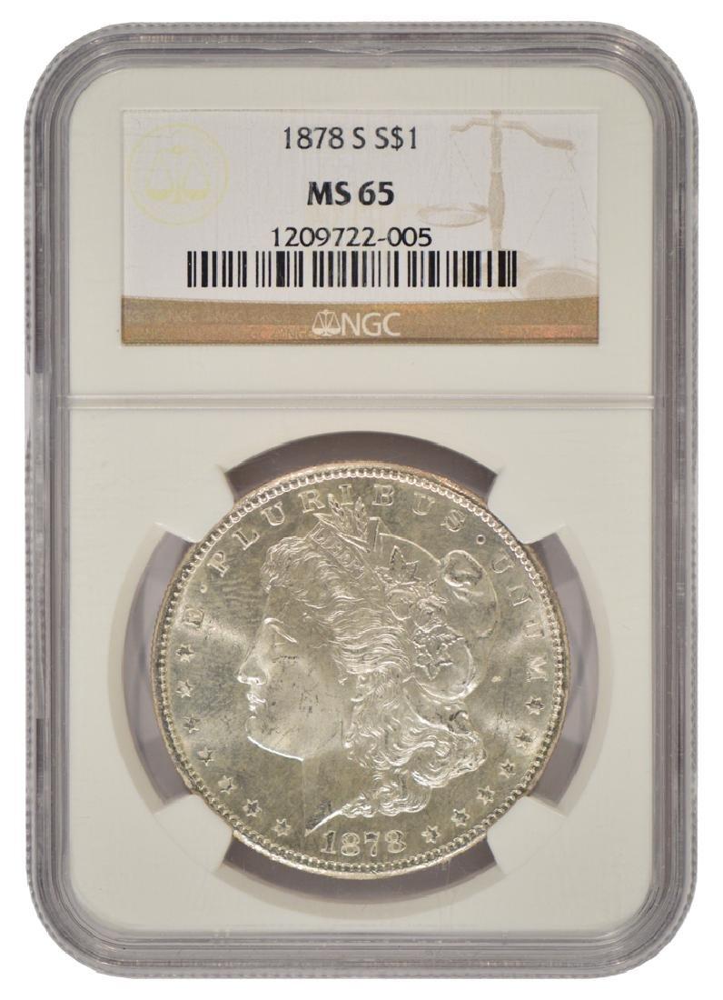 1878-S $1 Morgan Silver Dollar Coin NGC MS65