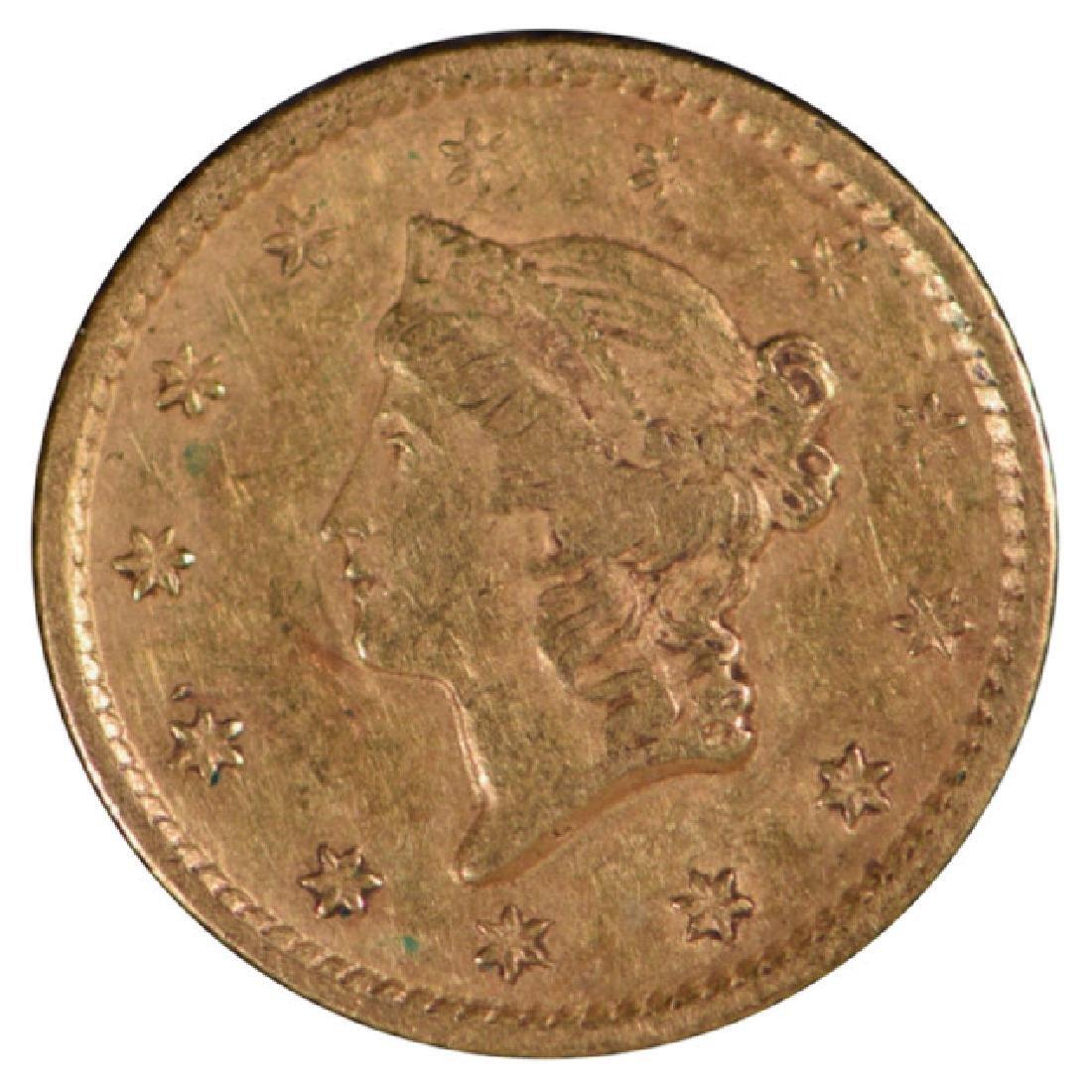1849-O $1 Gold Coin