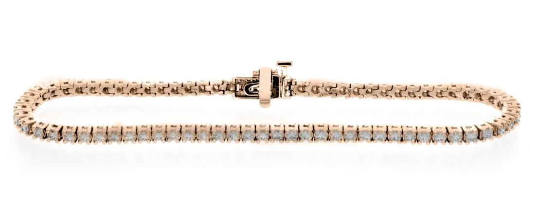 18KT Rose Gold 2.00ctw Diamond Tennis Bracelet