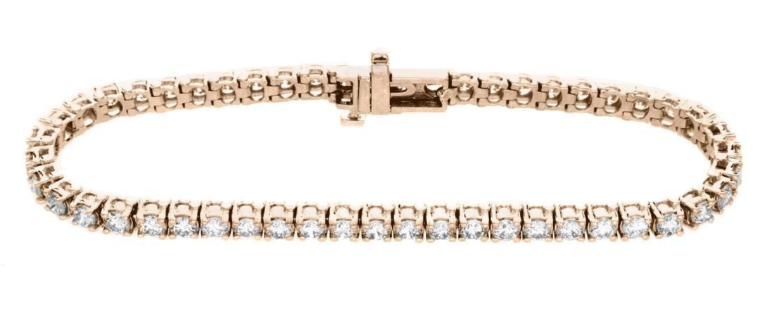 18KT Rose Gold 5.00ctw Diamond Tennis Bracelet