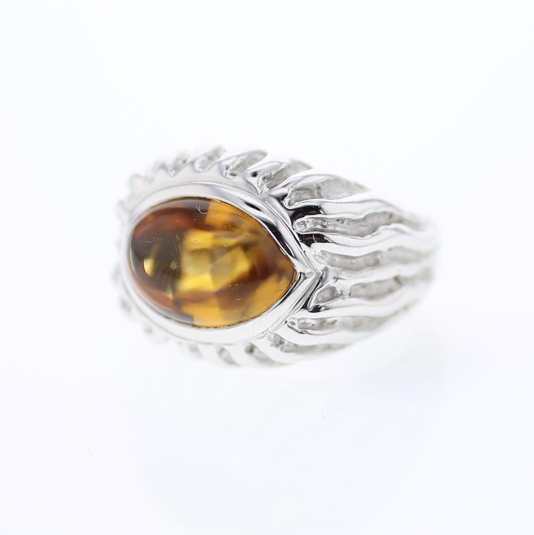 14KT White Gold 7.45ct Citrine Ring