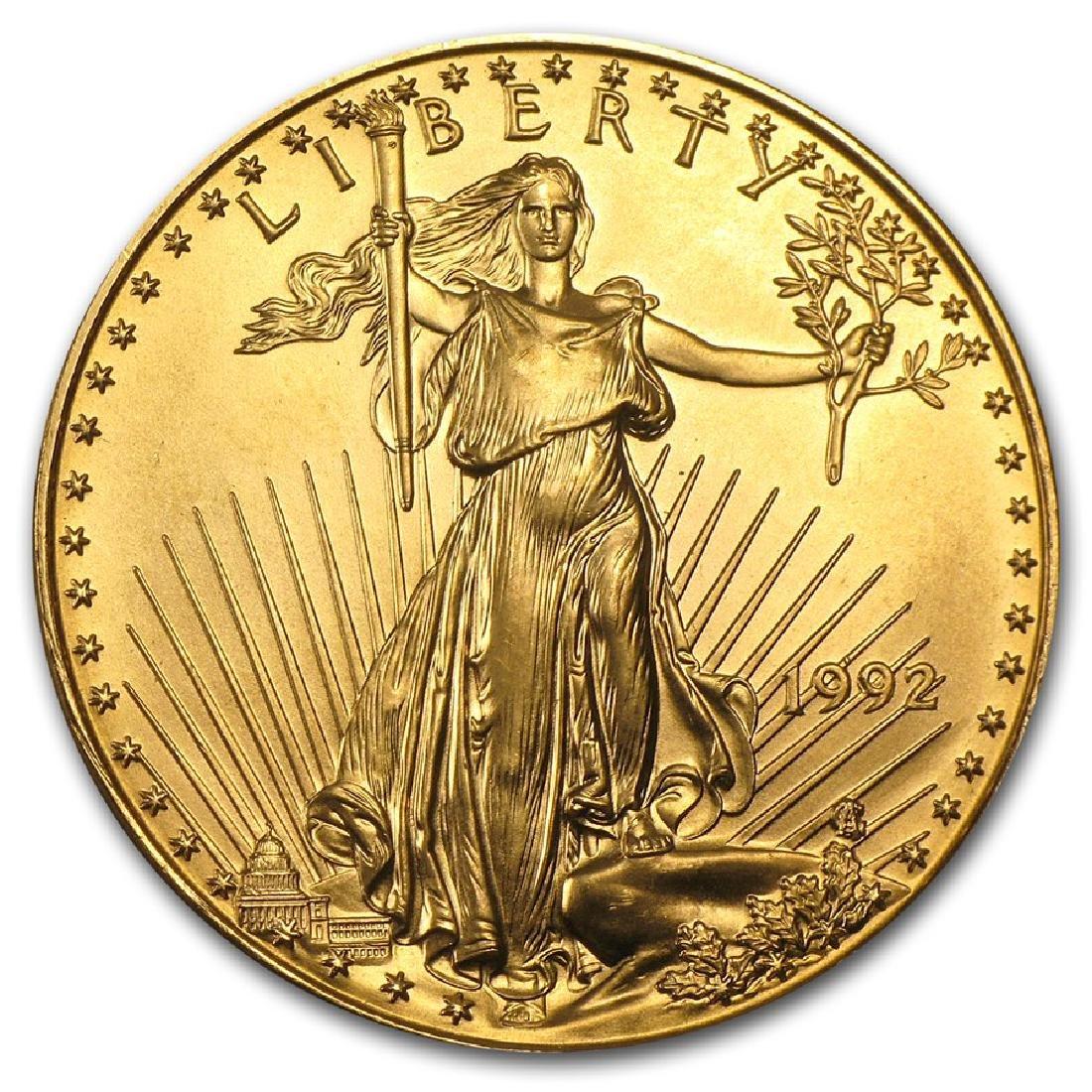 1992 $50 American Eagle 1 oz Gold Coin
