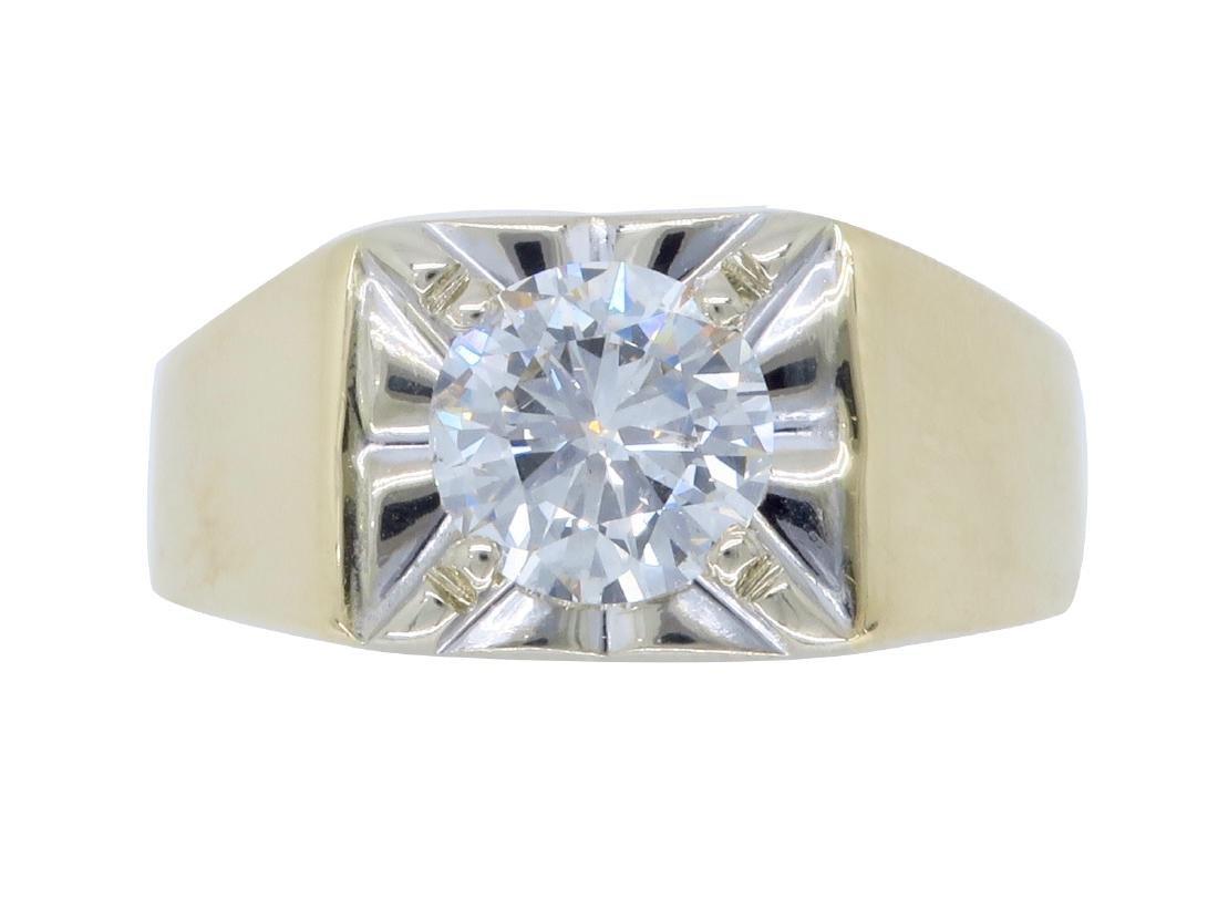 14KT Yellow Gold 1.23ct Diamond Ring