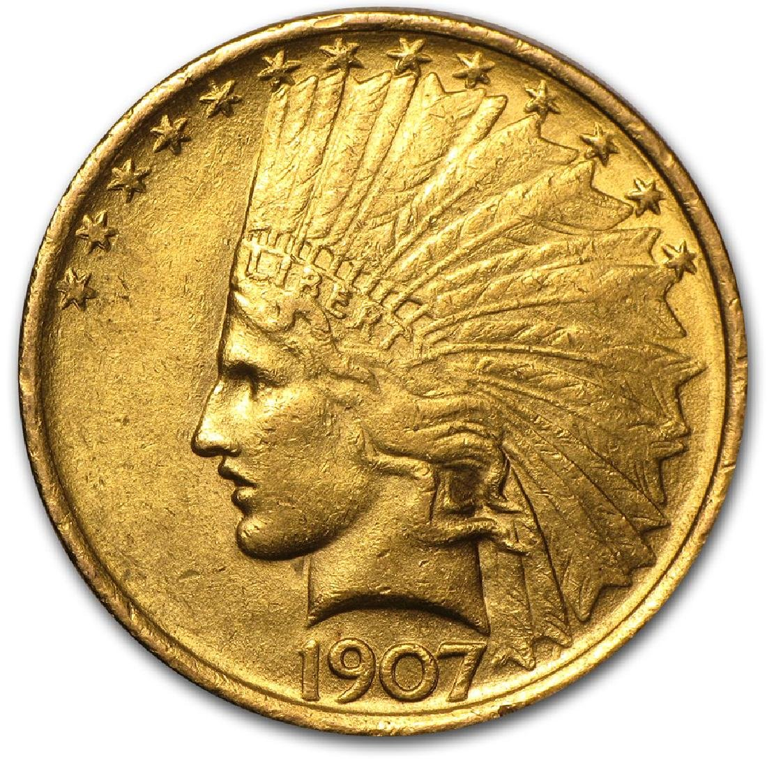 1907 $10 Indian Head Gold Coin