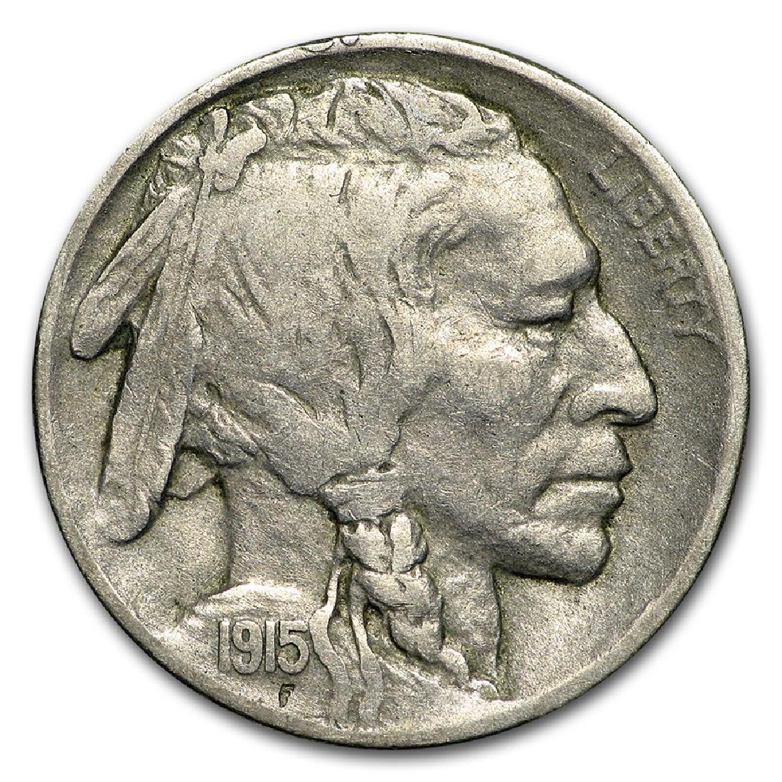1915-D Buffalo Nickel Coin