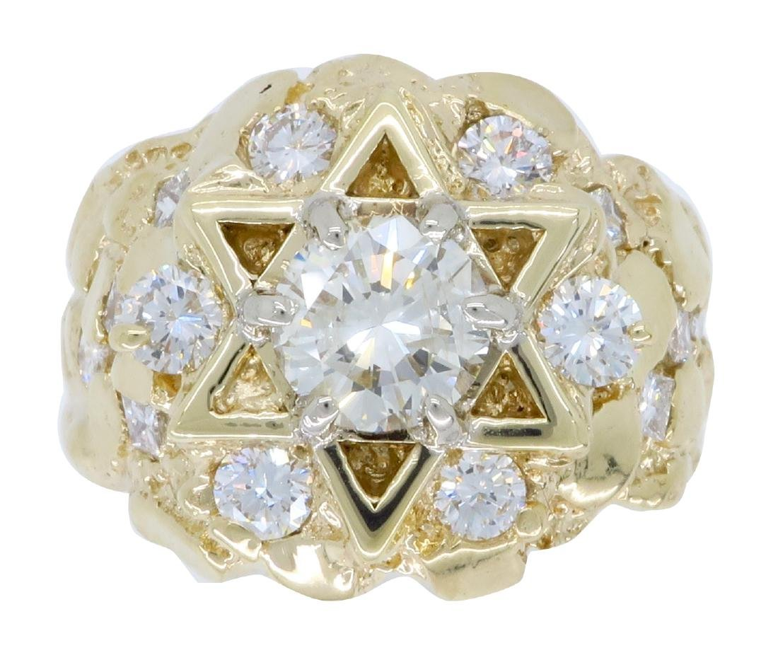14KT Yellow Gold 3.62ctw Diamond Ring
