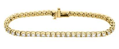18KT Yellow Gold 500ctw Diamond Tennis Bracelet