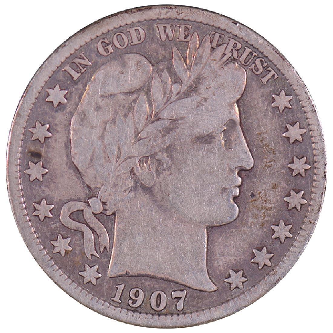 1907-D Barber Half Dollar Coin