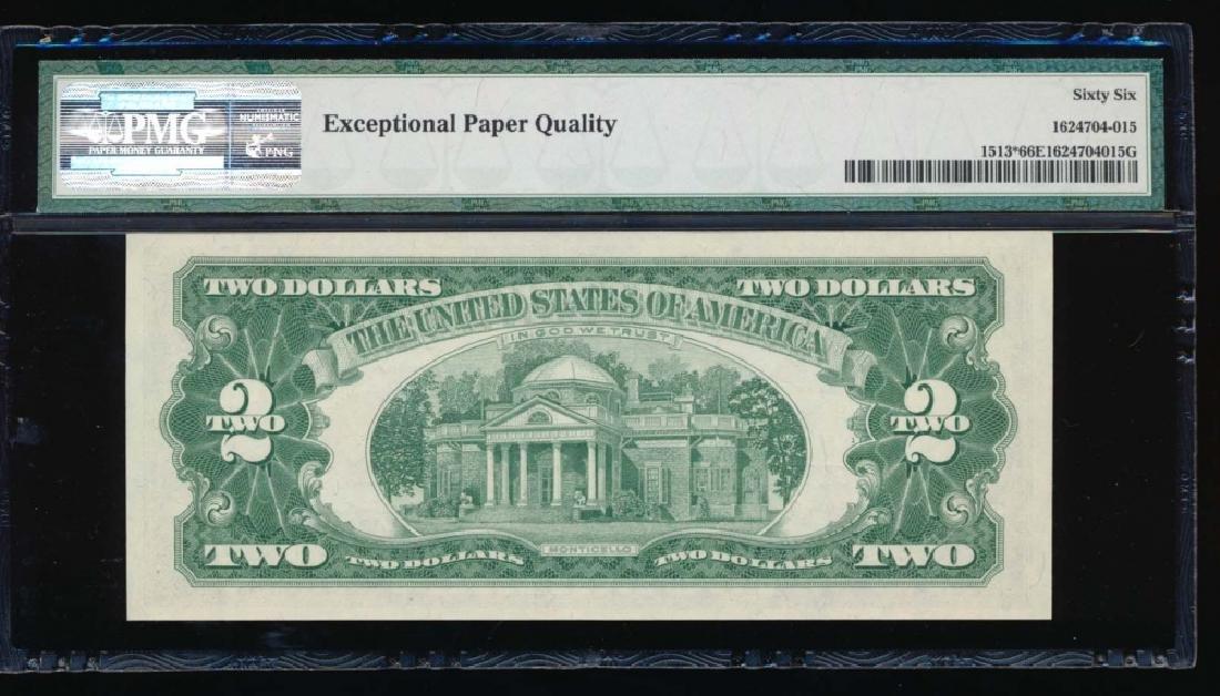 1963 $2 Legal Tender Note PMG 66EPQ - 2