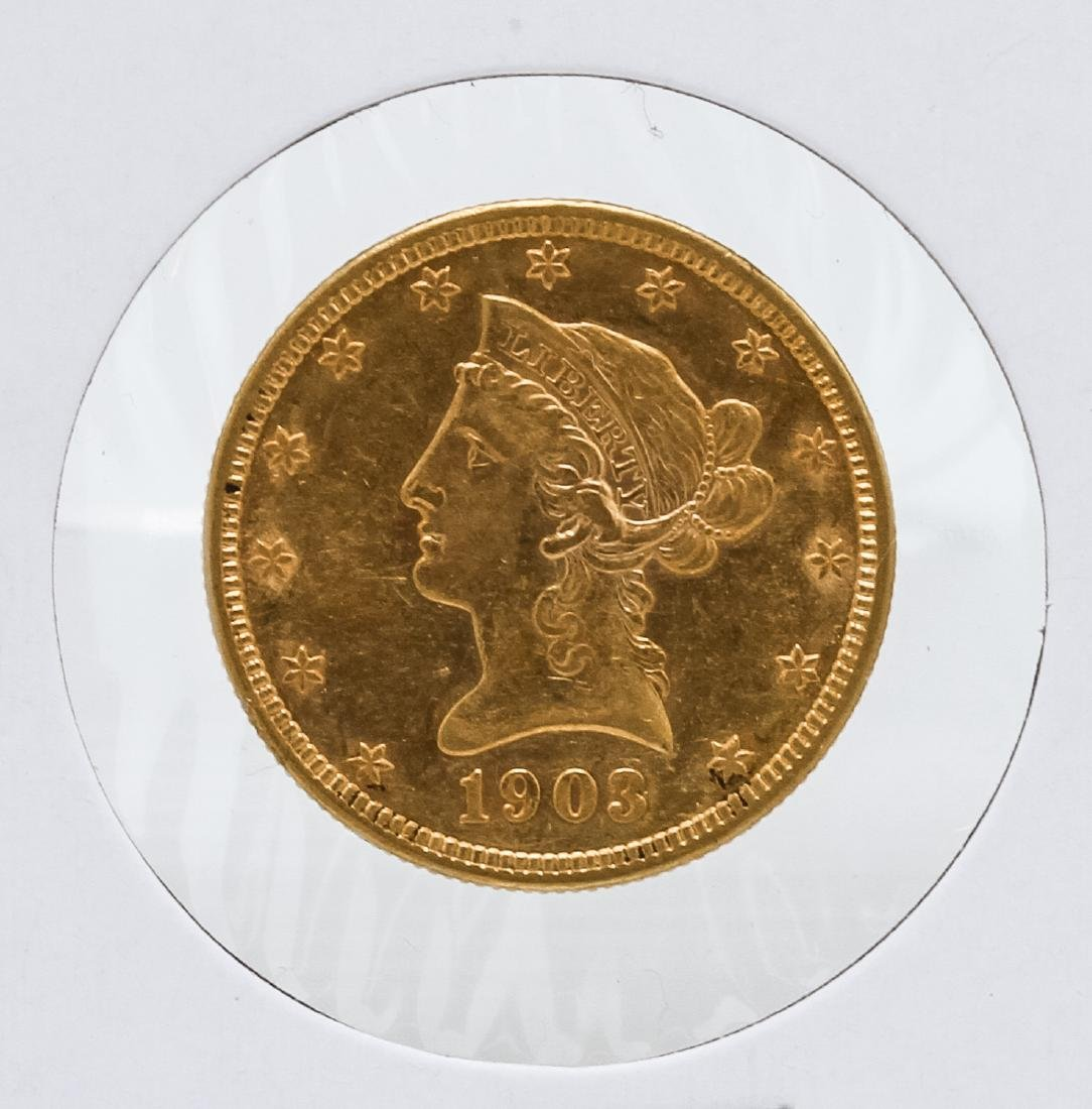 1903-O $10 Liberty Head Eagle Gold Coin