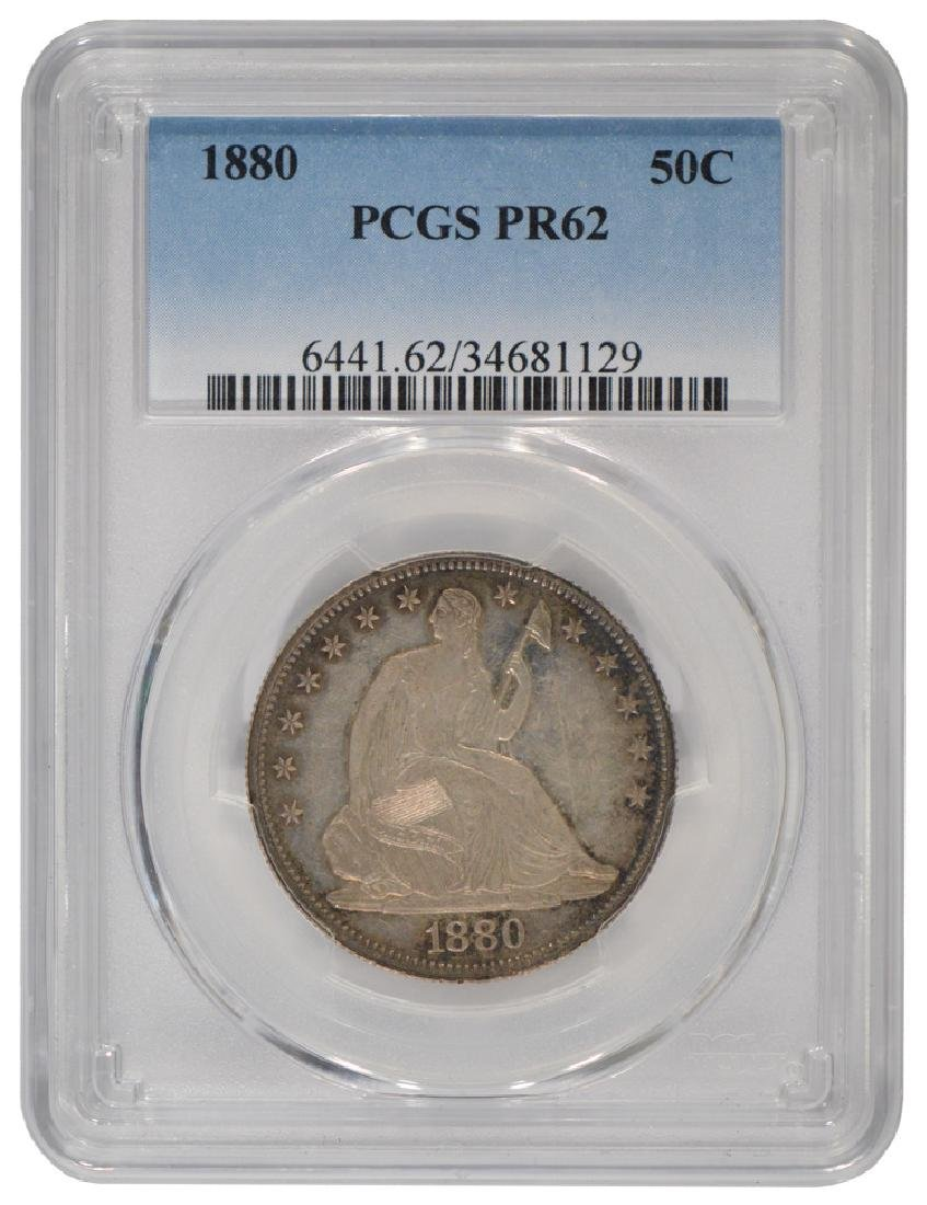 1880 Seated Liberty Half Dollar Coin PCGS PR62