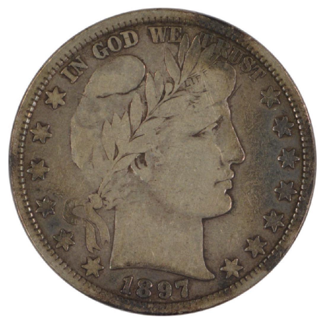1897 Barber Half Dollar Coin