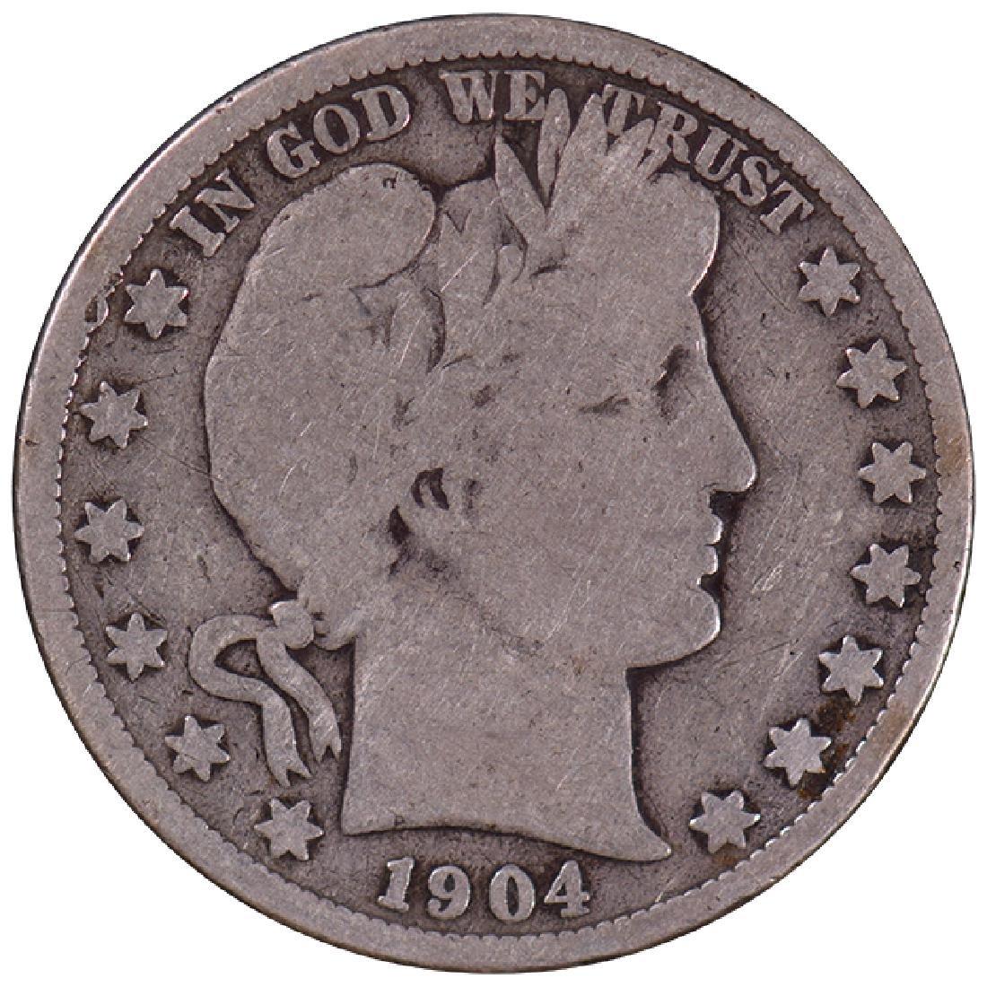1904-S Barber Half Dollar Coin