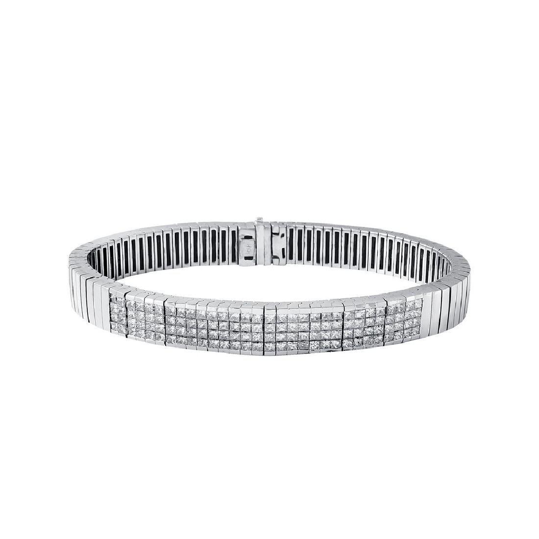 18KT White Gold 5.58ctw Diamond Bracelet