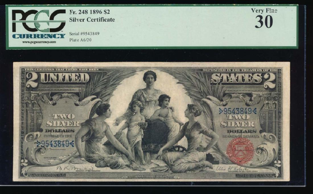 1896 $2 Silver Certificate PCGS 30 Very Fine