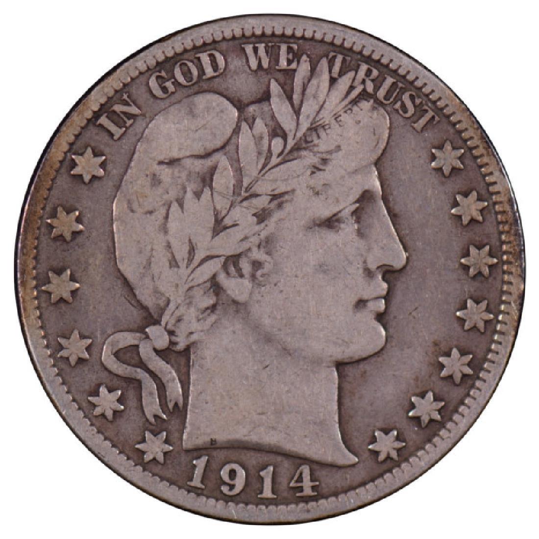 1914-S Barber Half Dollar Coin