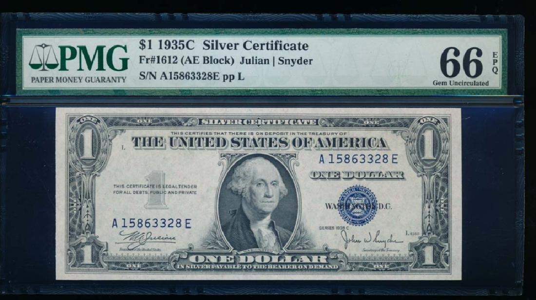 1935C $1 Silver Certificate PCGS 66EPQ