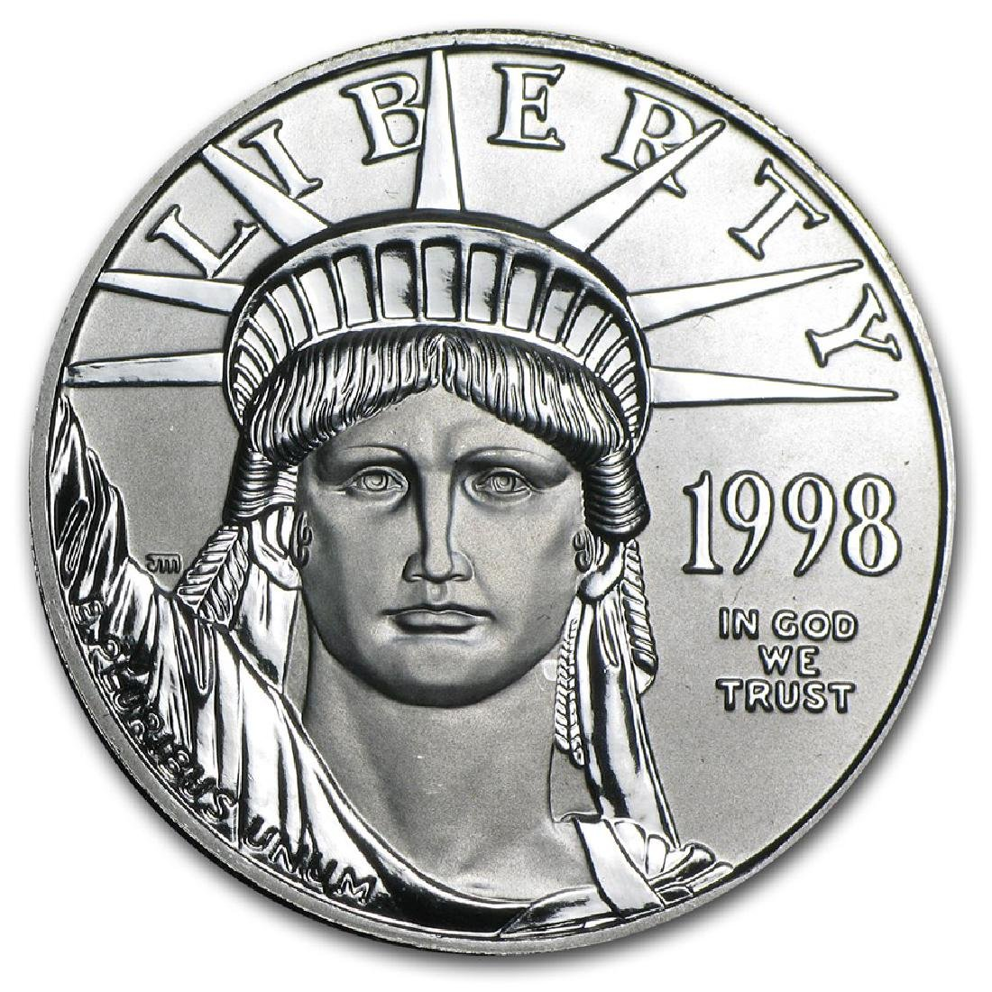 1998 $100 Platinum 1oz American Eagle Coin