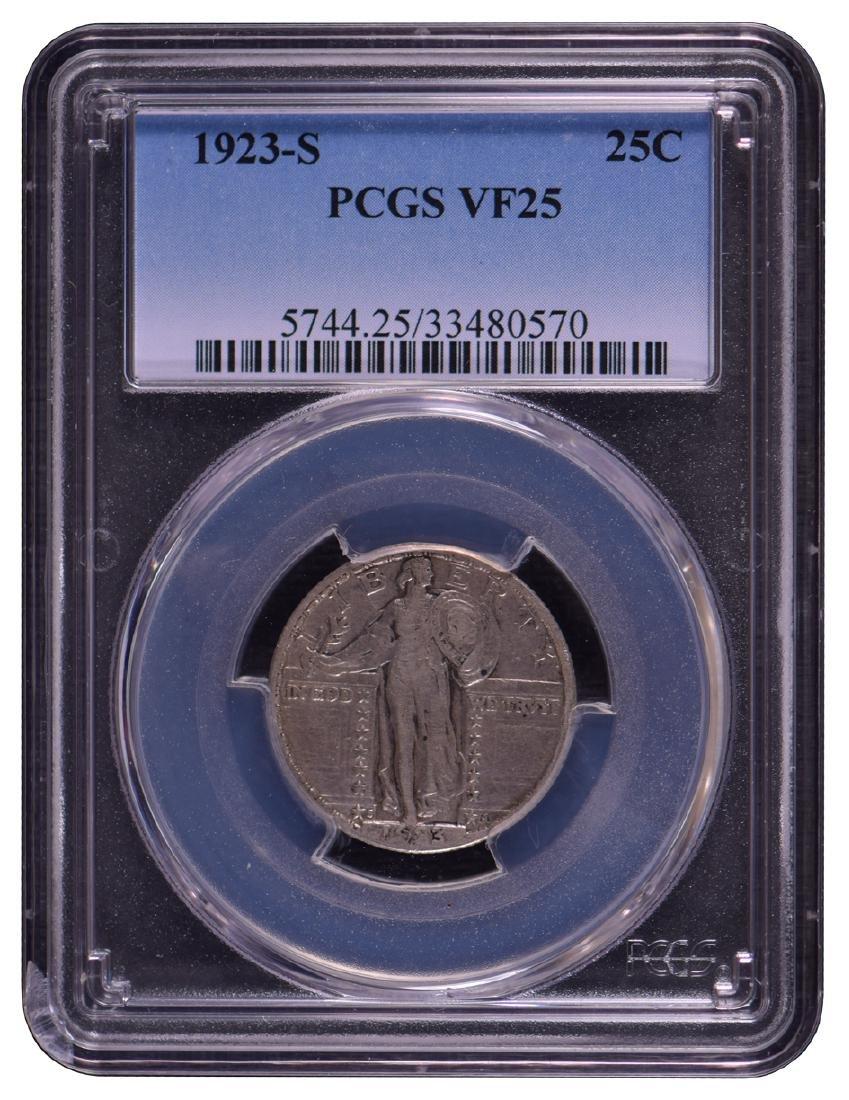 1923-S Standing Liberty Quarter PCGS VF25