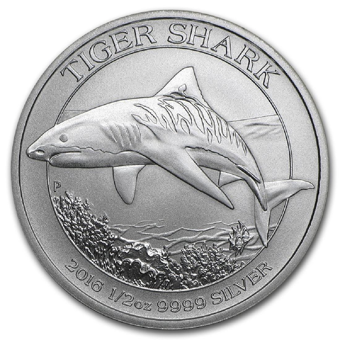 2016 Australia Tiger Shark 1/2 oz Silver Coin