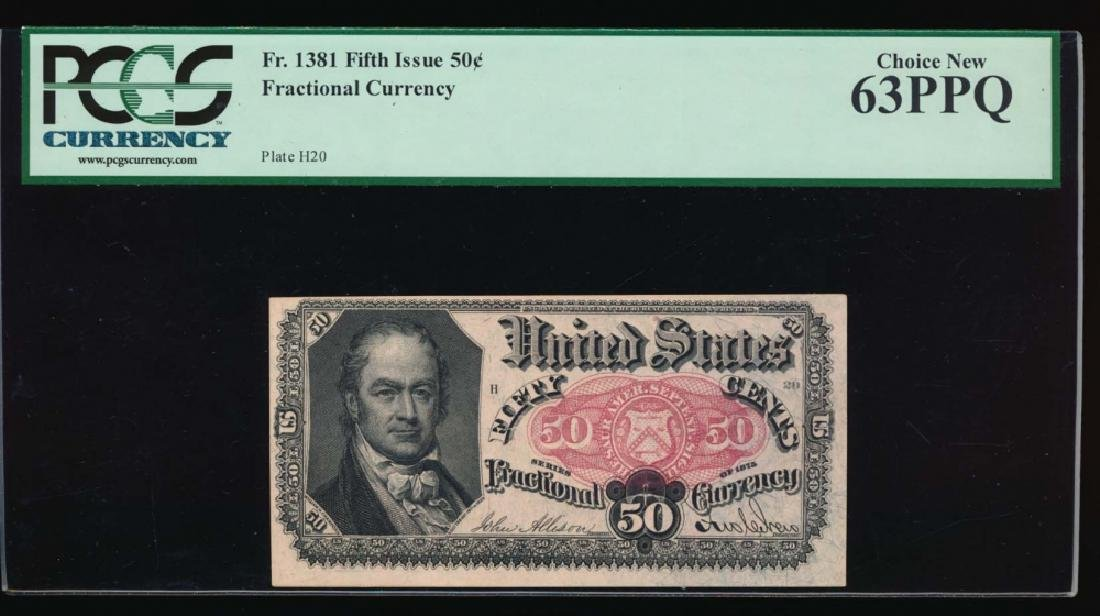 50 Cent Fifth Issue Fractional Note PCGS 63PPQ No