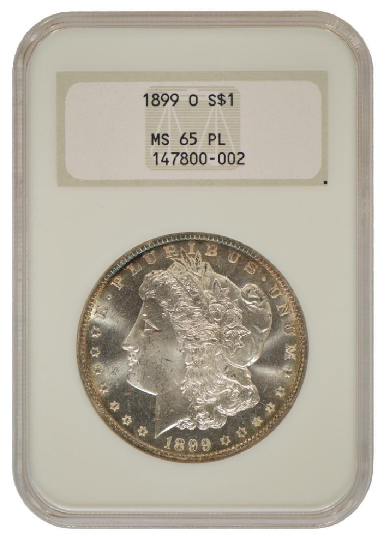 1899-O $1 Morgan Silver Dollar Coin NGC MS65PL