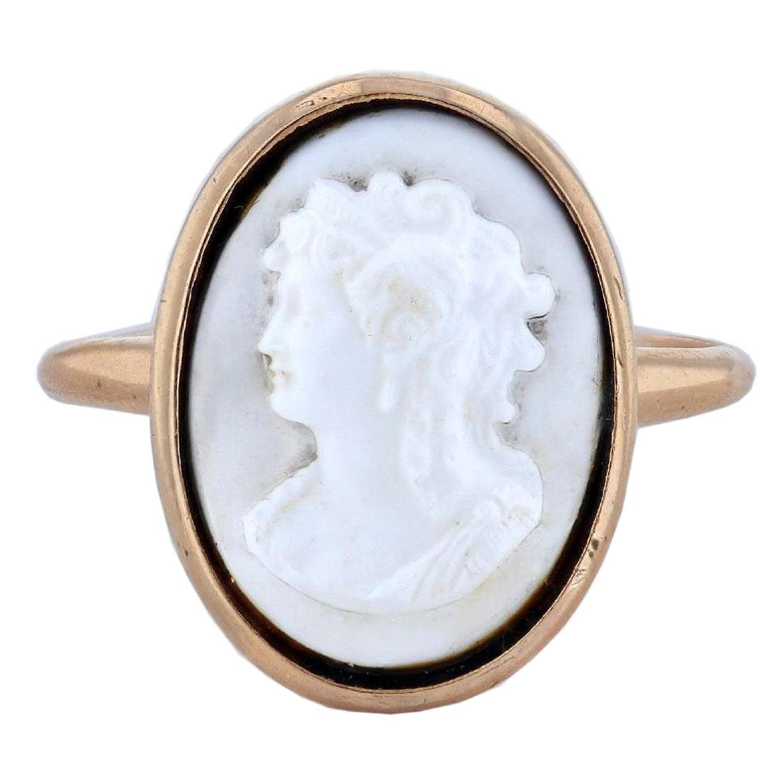 10KT Yellow Gold Cameo Ring