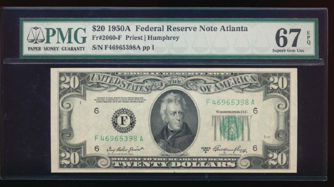1950A $10 Atlanta Federal Reserve Note PMG 67EPQ