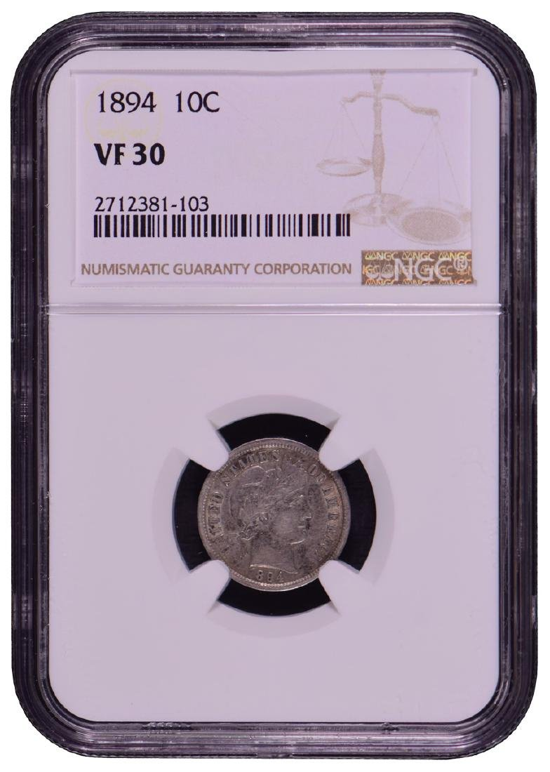 1894 Barber Dime NGC VF30