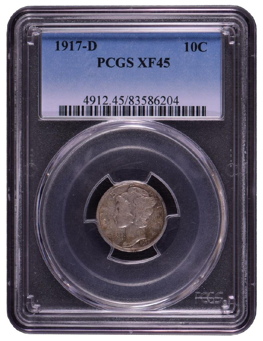 1917-D Barber Dime PCGS XF45