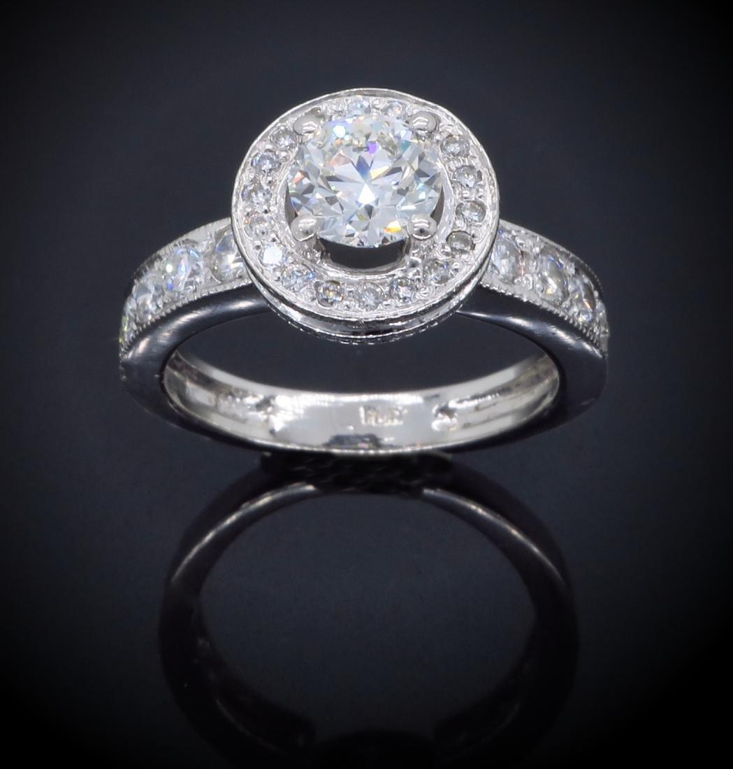 Platinum 0.90ct GIA Cert Diamond Ring