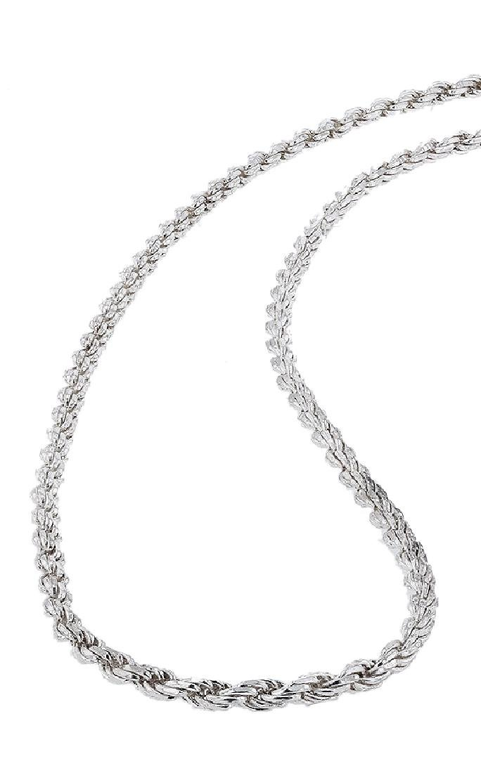 Sterling Silver Italian Rope Chain