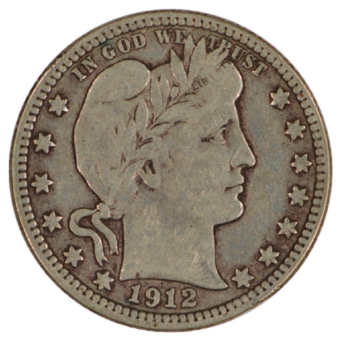 1912-S Barber Quarter Coin