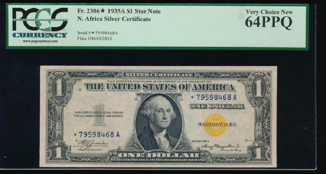 1935A $1 North Africa Silver Certificate Star Note PCGS
