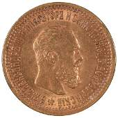 1889 Russia 5 Roubles Gold Coin